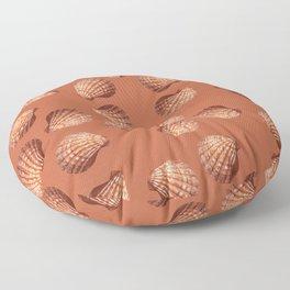 Orange big Clam pattern Illustration design Floor Pillow