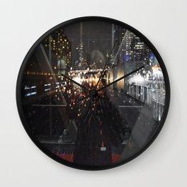 Landscape | Night Urban Reflection | Cityscape | Toronto Life Wall Clock
