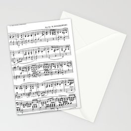 Mendelssohn Classical Sheet Music Stationery Cards