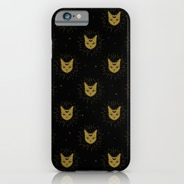 moon kitties in gold iPhone Case