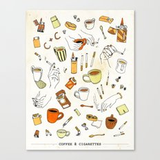 Coffee & Cigarettes Canvas Print
