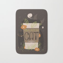 BLACK CAT COFFEE Bath Mat