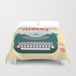 Misery, Horror, Movie Illustration, Stephen King, Kathy Bates, Rob Reiner, Classic book, cover Duvet Cover