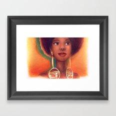 Ra Eyes - Queen Framed Art Print