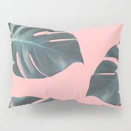 Oversized Palm in Pink Pillow Sham