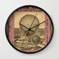 ballon Wall Clocks featuring Ballon Captif by DAChiemsee