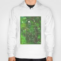 squirtle Hoodies featuring Squirtle by pkarnold + The Cult Print Shop