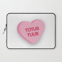 Catholic Conversation Heart Totus Tuus Laptop Sleeve