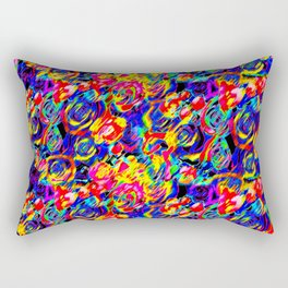 Psychedelic Roses Rectangular Pillow