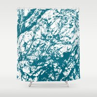 stone Shower Curtains featuring Stone by mangulica illustrations