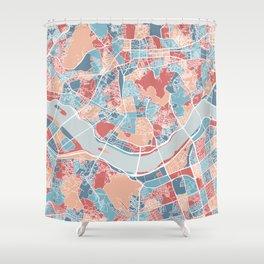 Seoul map Shower Curtain