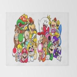 Super Mario Bros characters Throw Blanket