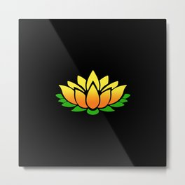 Yellow Lotus Metal Print