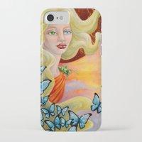 aurora iPhone & iPod Cases featuring Aurora by Amanda Shelton