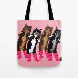 Dance Dance Cat Cat Tote Bag