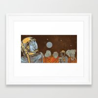 spiritual Framed Art Prints featuring Spiritual Animals by Thomcat23