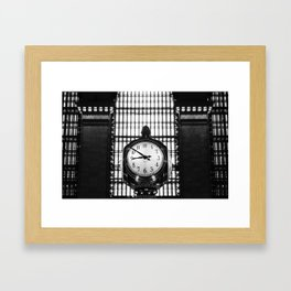 Clock in Grand Central Terminal Framed Art Print