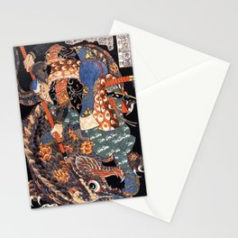 Miyamoto Musashi killing a giant nue Stationery Cards