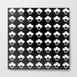Wildflower b&w Metal Print