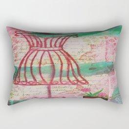 Spring Dress Form Rectangular Pillow