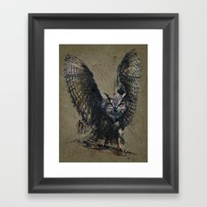 Owl background Framed Art Print