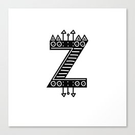 LETTER 'Z' IMELA PRINT Canvas Print