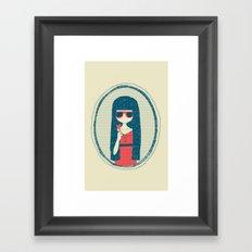 Lollipop girl Framed Art Print