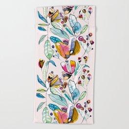 Flowers in the Wind Beach Towel