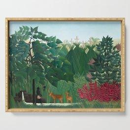 Henri Rousseau, The Waterfall - Tropical Art Serving Tray