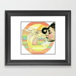 luv el chivo, la cabra  Framed Art Print
