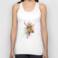 deer Tank Tops featuring deer by mark ashkenazi