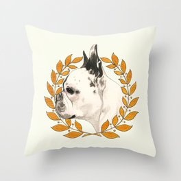 French Bulldog - @french_alice dog Throw Pillow