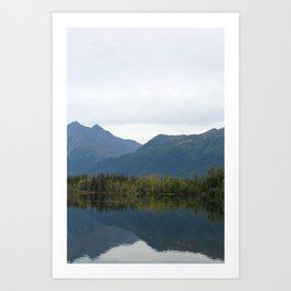 Fall Mountain Reflection 2 Art Print