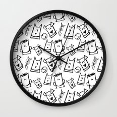 Puppies, kittens, cats, dogs & them! Wall Clock
