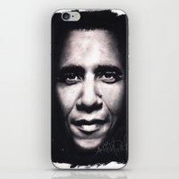 obama iPhone & iPod Skins featuring Barack Obama by Satanoncrack