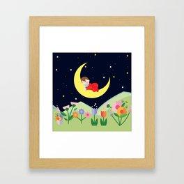 moonlight , nursery decor Framed Art Print