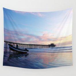 Dory Sunset Newport Beach Pier Wall Tapestry