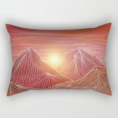 Lines in the mountains VI Rectangular Pillow