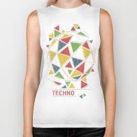 techno Biker Tanks featuring Techno by Sitchko Igor