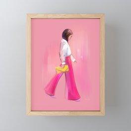 Fashion Sketch no 1 Framed Mini Art Print
