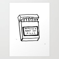 SMOKING ABOUT YOU Art Print