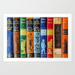 Vintage Children's Books Art Print