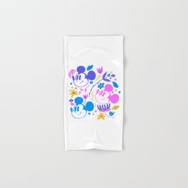 """""""Mickey Mouse Floral Pop"""" by Jenny Chang-Rodriguez Hand & Bath Towel"""