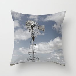 VINTAGE WINDMILL Throw Pillow