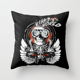 The One Who Sold the World (white wings) Throw Pillow