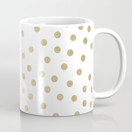 Stylish Gold Polka Dots Coffee Mug