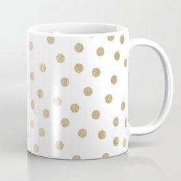 Stylish Gold Polka Dots Coffee Mug