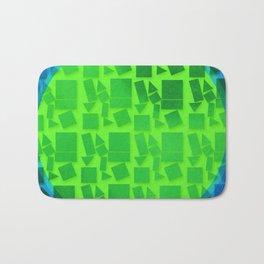 Geometric Shapes- Cool Tones Bath Mat