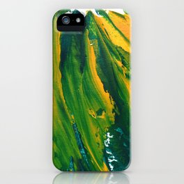Wings Collection orange/green iPhone Case