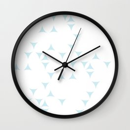 White_Blue_Triangles Wall Clock